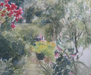 zomertuin - aquarel