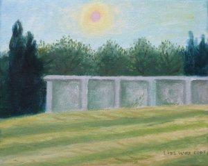 Lies Was, zon boven muurtje