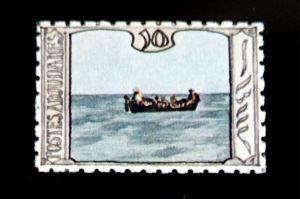adjudani bootje op zee