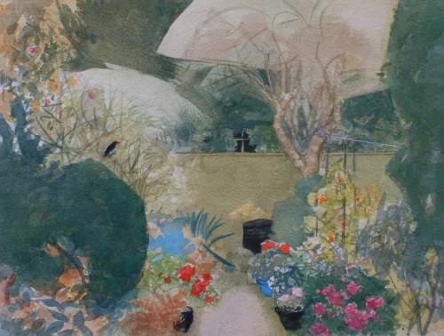 Herfst met blauw sat